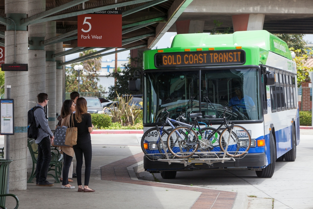 Bus at stop
